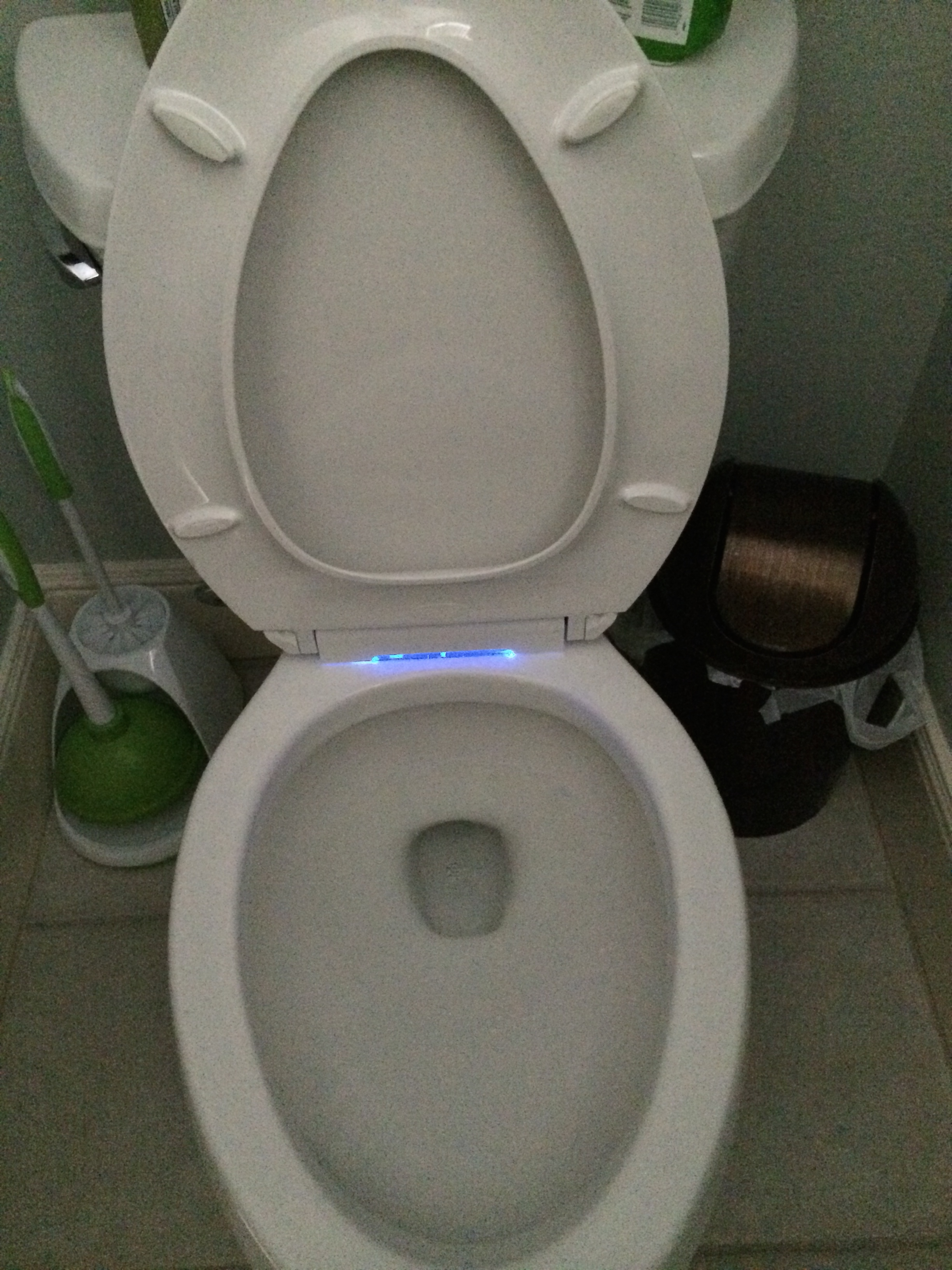 non slam toilet seat. Then  not only did I get a non slamming toilet lid but also got super cool Here it is again notice anything September 2014 My Second Plan A